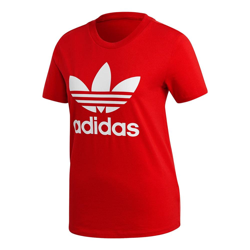 Camiseta-adidas-Trefoil-Feminina-Vermelha