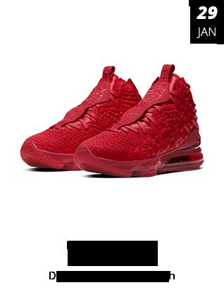 29_01_20 - Tênis Nike Lebron XVII Red Carpet Vermelho BQ3177-600
