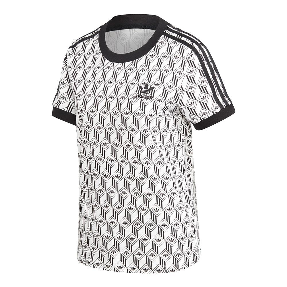 Camiseta-adidas-3-Stripes-Feminina-Multicolor