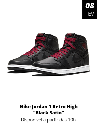 08_02_20 - Tênis Nike Jordan 1 Retro High Black Satin 555088-060