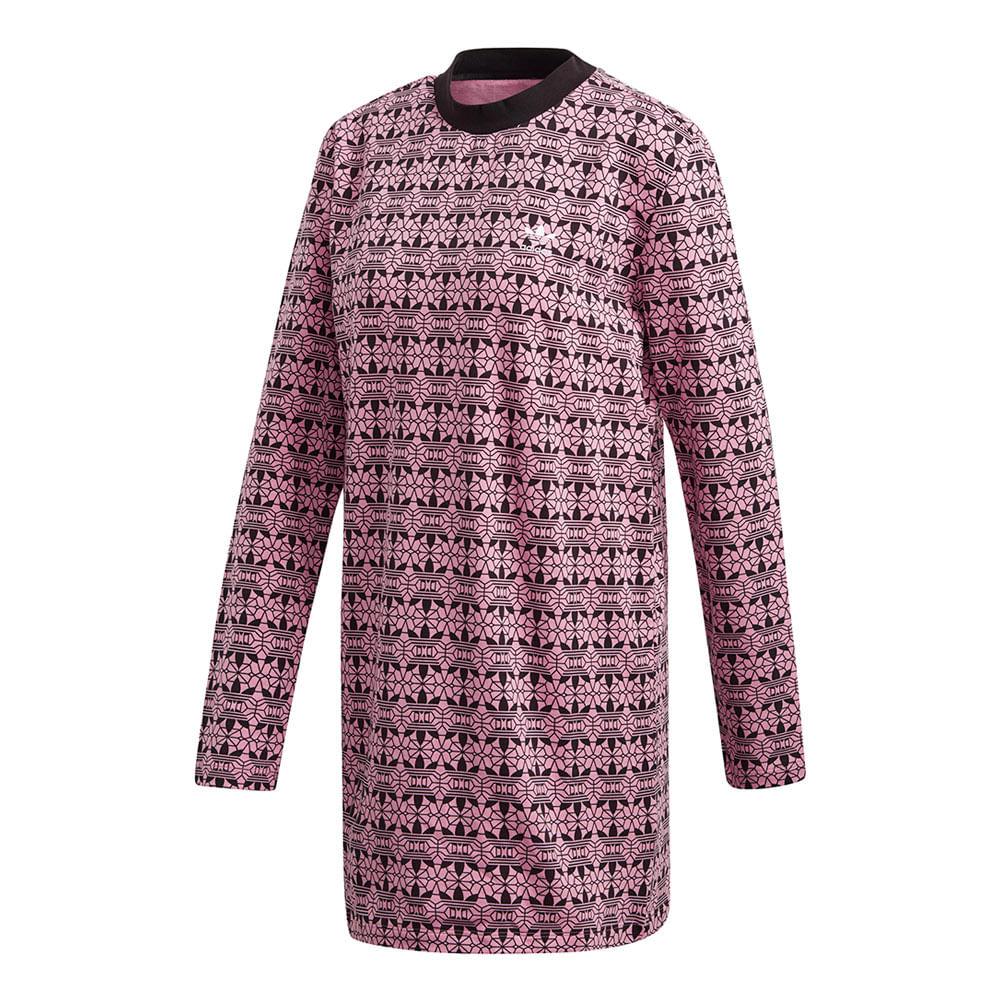 Vestido-adidas-Trefoil-AOP-Feminino-Multicolor