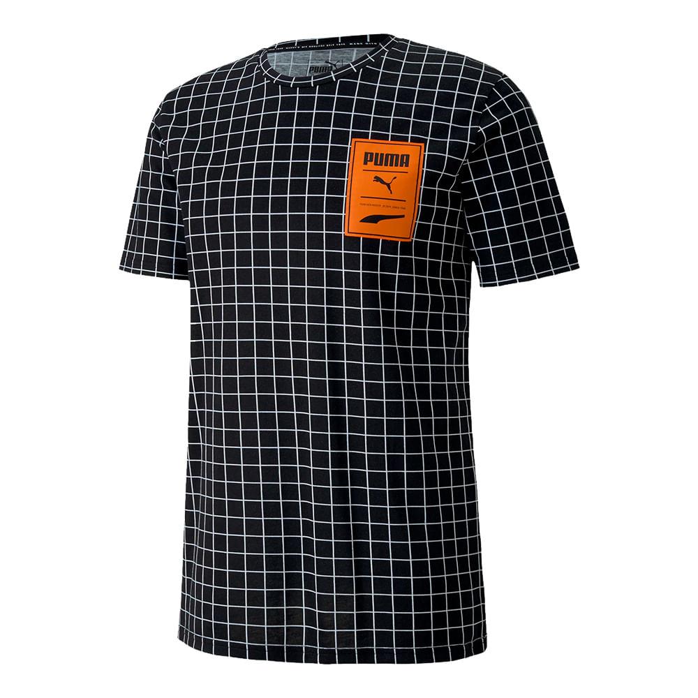 Camiseta-Puma-Recheck-Pack-AOP-Masculina-Preta
