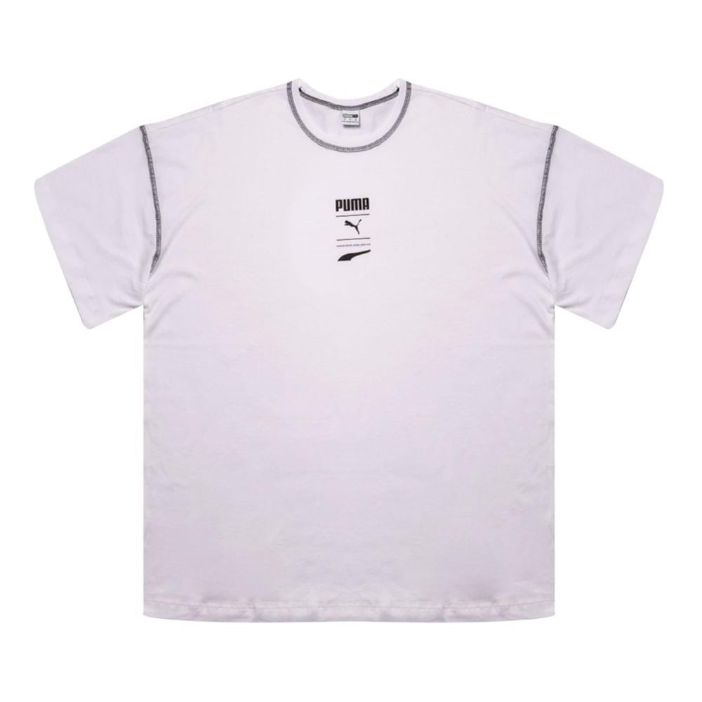 Camiseta-Puma-Recheck-Pack-Graphic-Feminina-Branco
