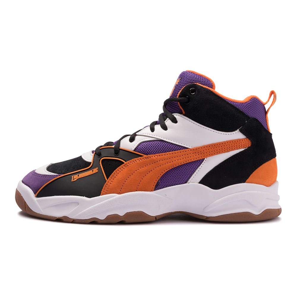 Tenis-Puma-Performer-Mid-The-Hundreds-Multicolor