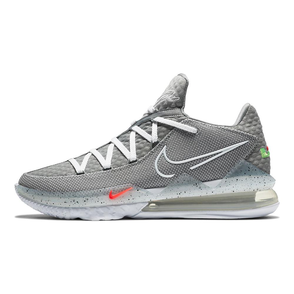 Tenis-Nike-Lebron-XVII-Low-Masculino-Cinza