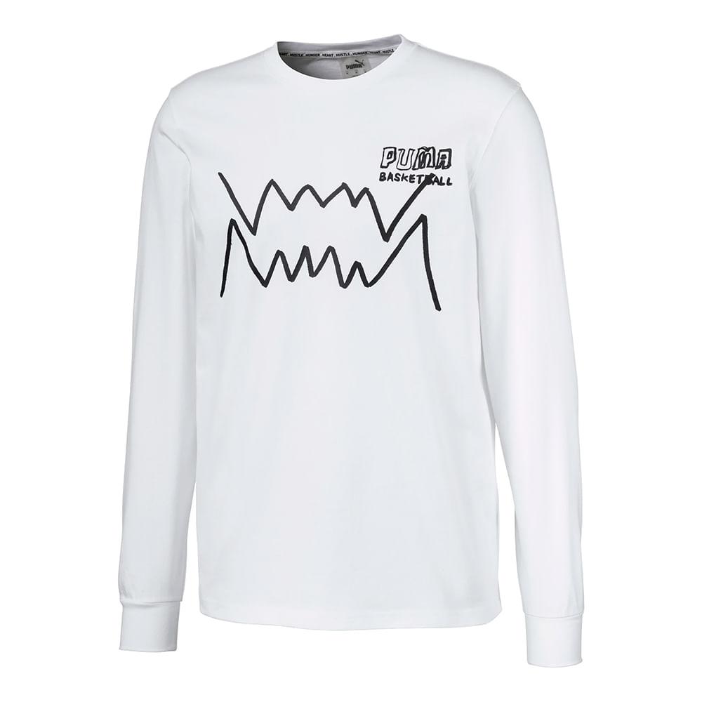 Camiseta-Puma-Bite-Ls-Masculina-Branca