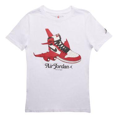 Camiseta-Air-Jordan-1-Takeoff-Infantil-Branca