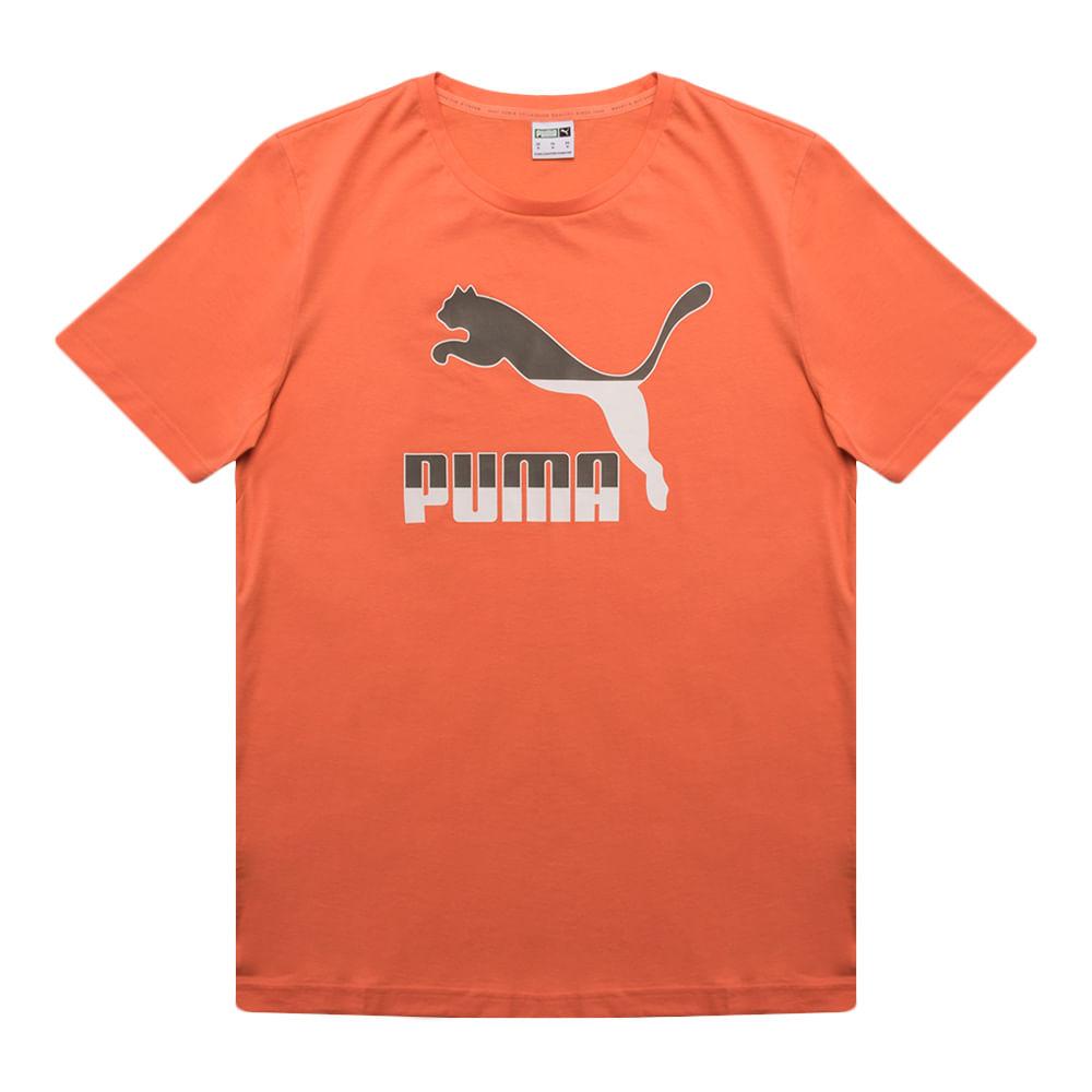 Camiseta-Puma-Classics-Logo-Masculina-Laranja