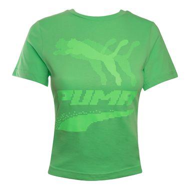 Camiseta-Puma-Evide-Graphic-Feminina-Verde