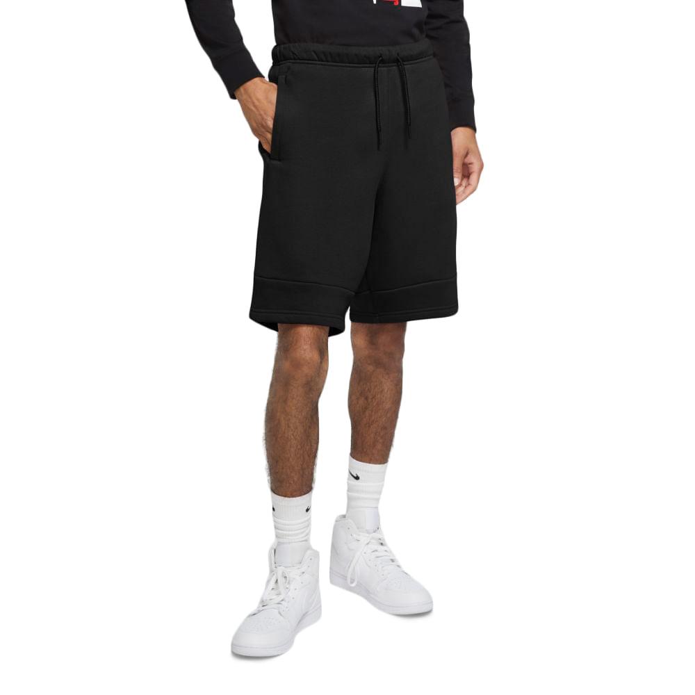 Shorts-Jordan-Jumpman-Air-Fleece-Masculino-Preto