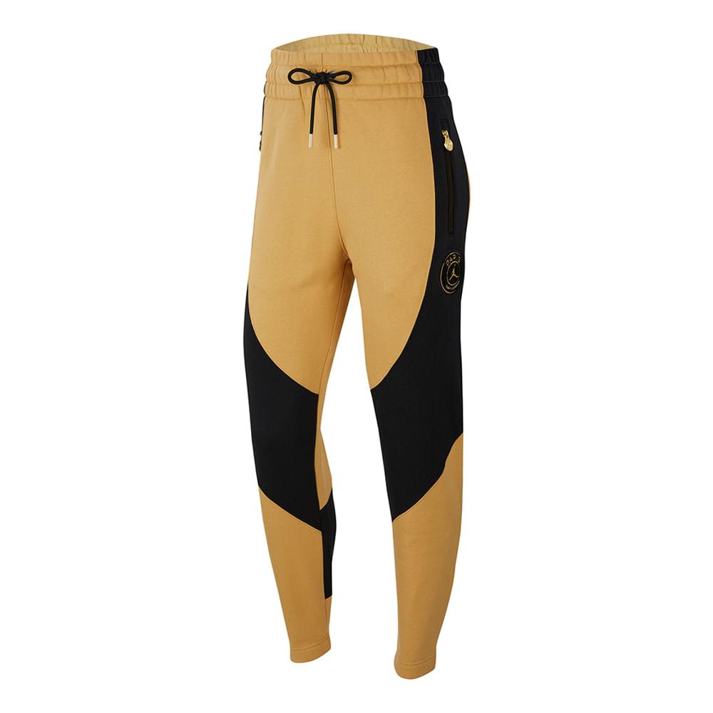 Calca-Jordan-X-PSG-Fleece-Feminina-Amarela