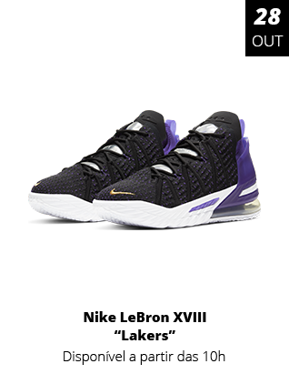 28-10-2020 - Tênis Nike LeBron XIII Lakers Masculino Preto CQ928-3-004