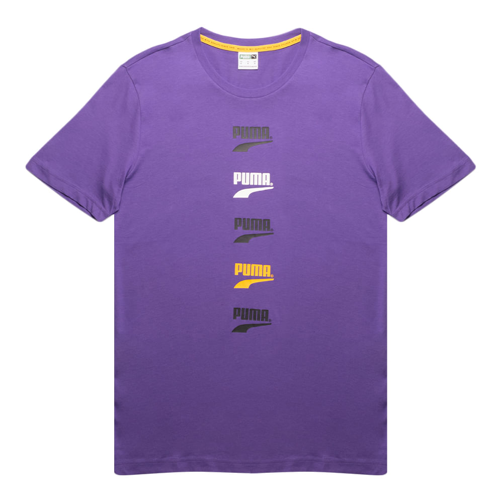 Camiseta-Puma-Club-Graphic-Masculina-Roxa