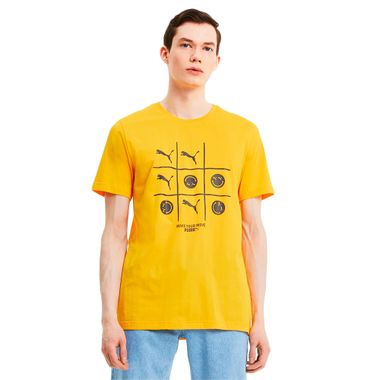 Camiseta-Puma-Club-Graphic-Masculina-Amarelo