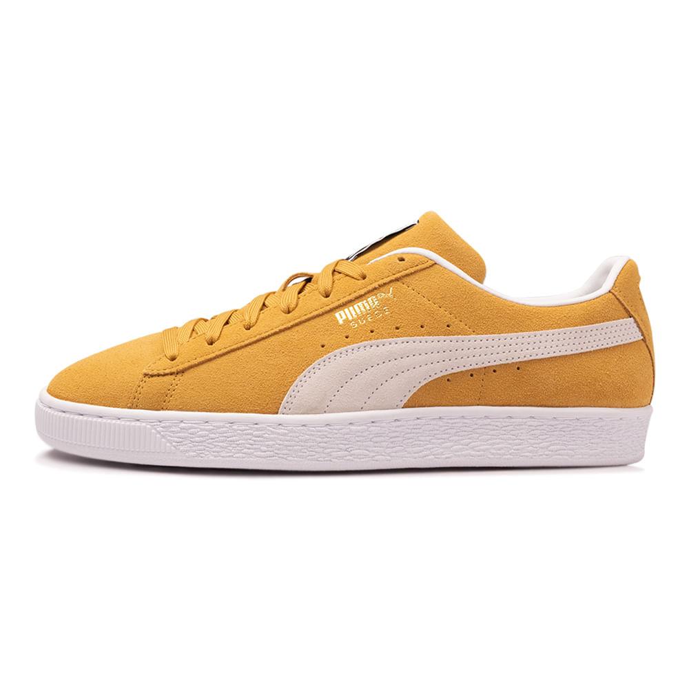 Tenis-Puma-Suede-Classic-XXI-Masculino-Amarelo