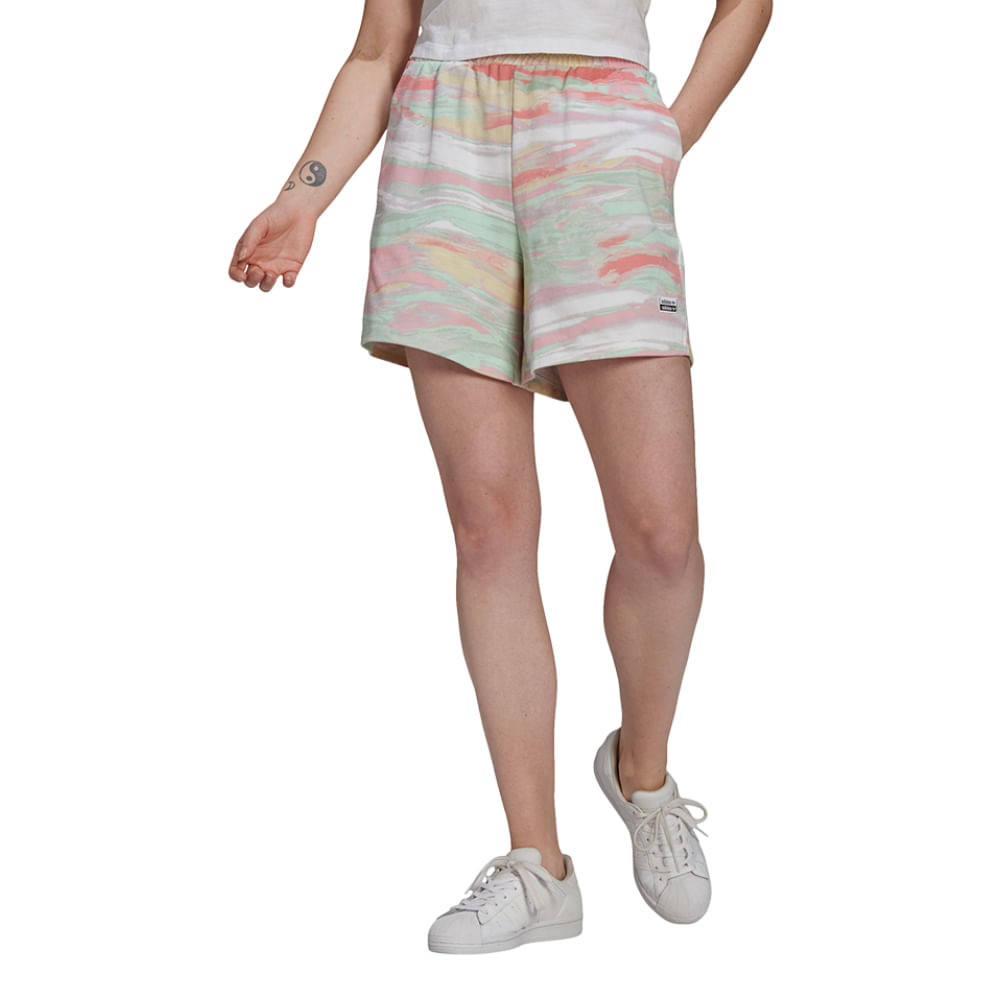 Shorts-adidas-Originals-Feminino-Multicolor