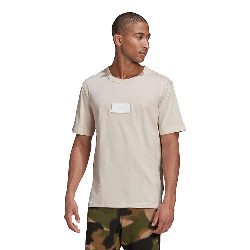 Camiseta-adidas-Silicon-Badge-Masculina-Bege