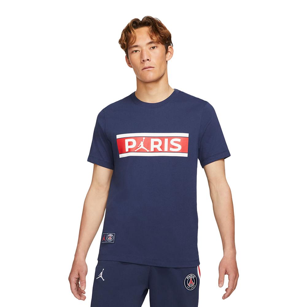 Camiseta-Jordan-X-PSG-Wordmark-Masculina-Azul