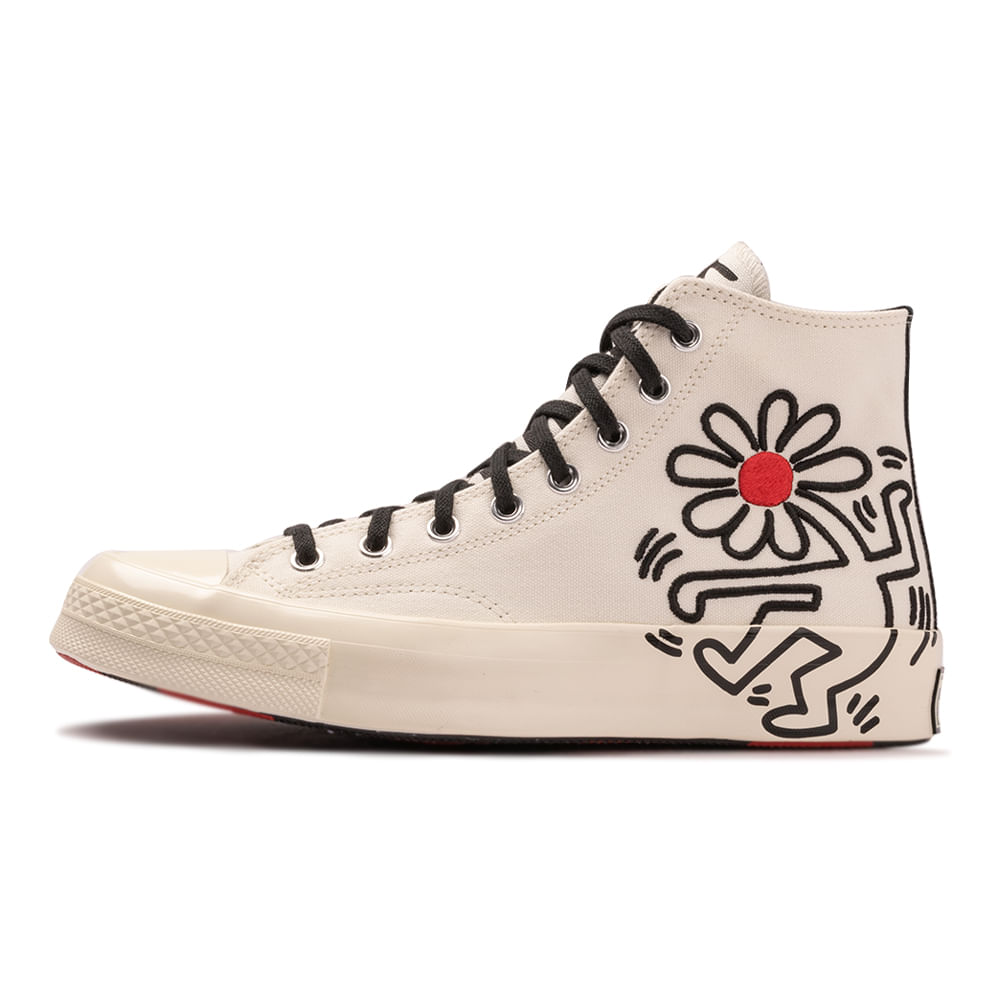 Tenis-Converse-Chuck-70-X-Keith-Haring-Bege