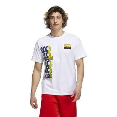 Camiseta adidas Logo Play Masculina Branca