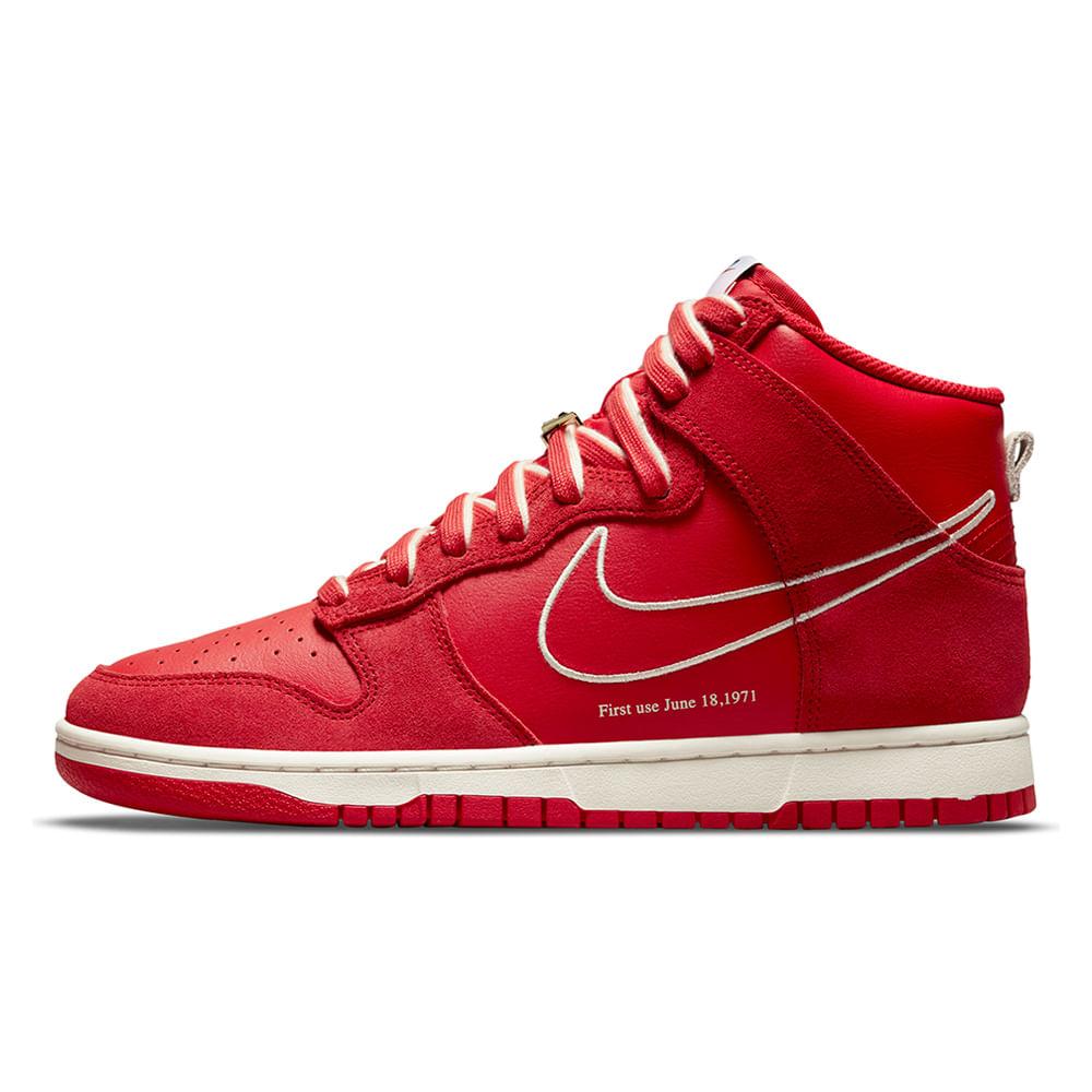 Tenis-Nike-Dunk-Hi-Se-Masculino-Vermelho